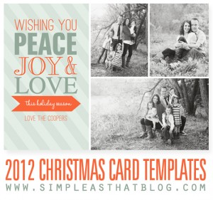 christmas card printable templates
