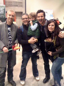 colin and justin and buzz bishop at calgary home show