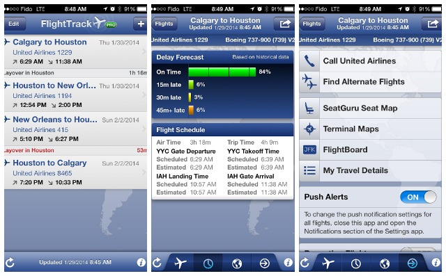 Flight Track App Screenshots