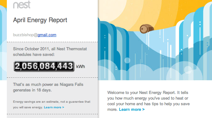 My Nest Home Energy Update