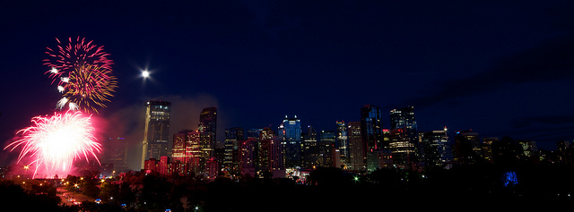 Canada Day Fireworks in Calgary