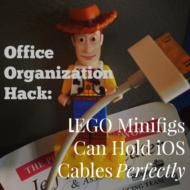 LEGO Minifigs As Cable Organizers