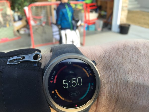 Moto 360 Sport with kids
