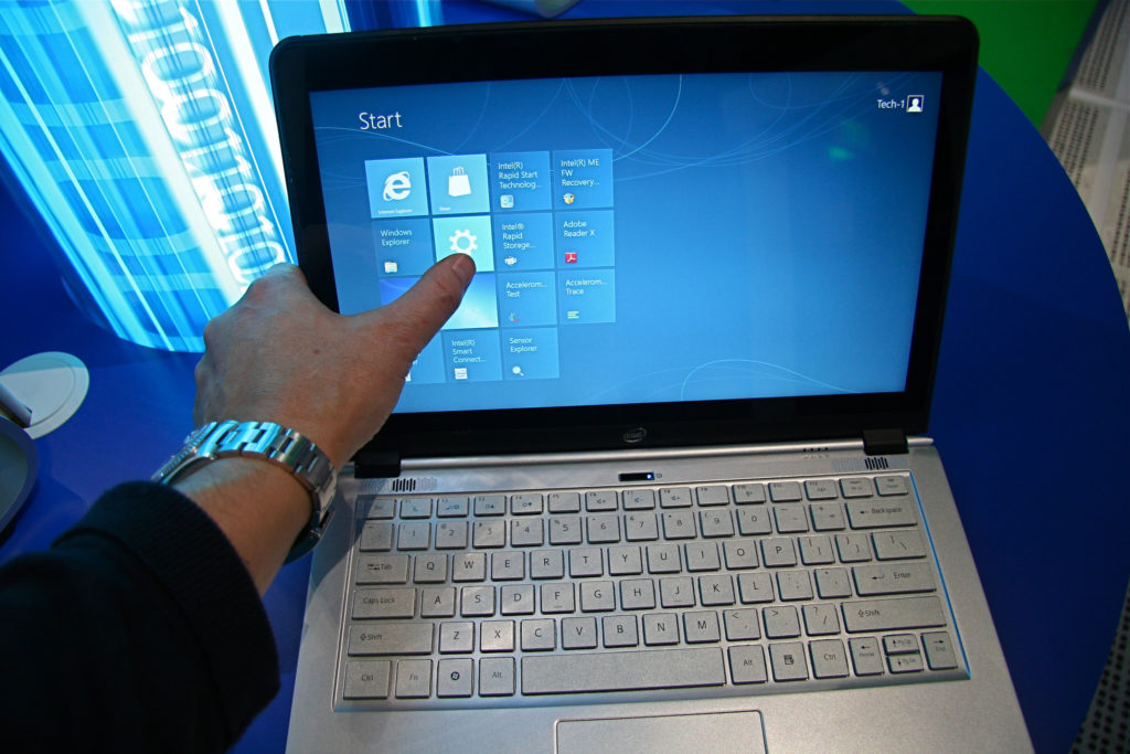 """Touch on Laptop Screens"" (CC BY 2.0) by IntelFreePress"